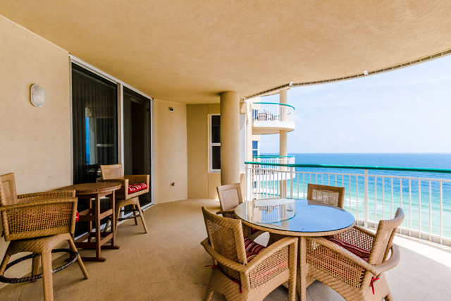 Beach Colony Resort Porch with Outdoor Table