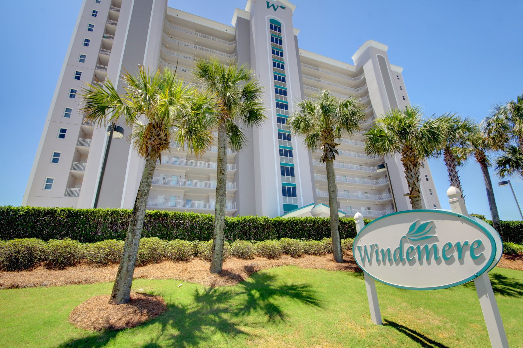Windemere Perdido Key front of building & sign