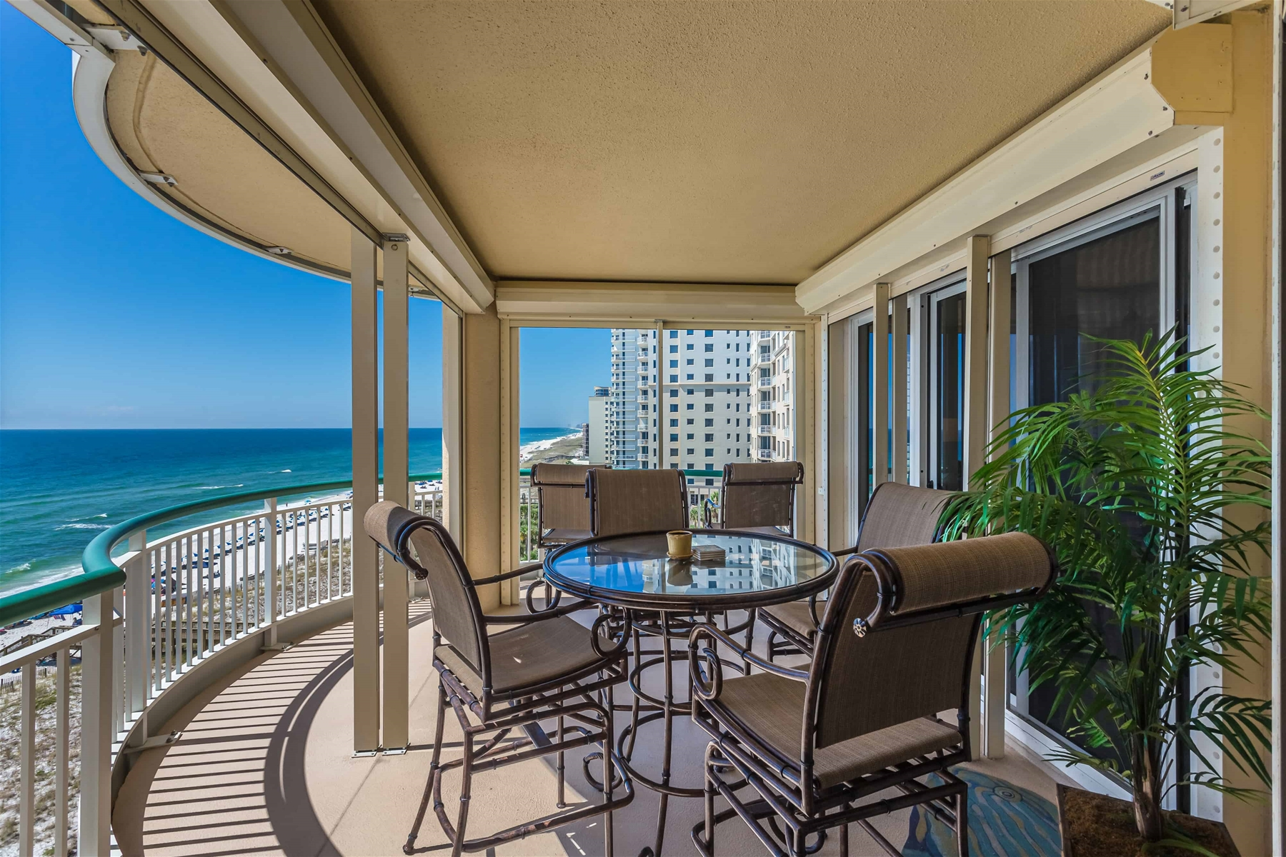 Interior view of the Verandas condos on Ocean Drive Beach North Myrtle Beach