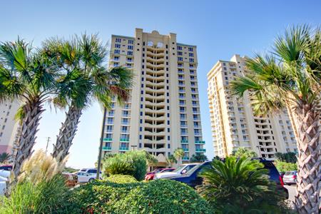 Avista Resort aerial pool shot and vacation rentals along Ocean Drive Beach North Myrtle Beach